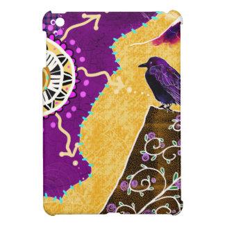 Crow on a book iPad mini cover