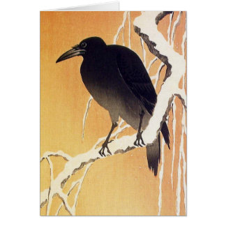 Crow on a Branch by Ohara Koson Vintage Greeting Card