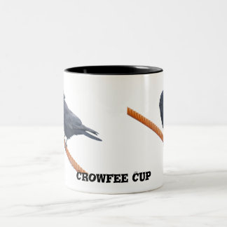 CROW ON A CABLE Mugs