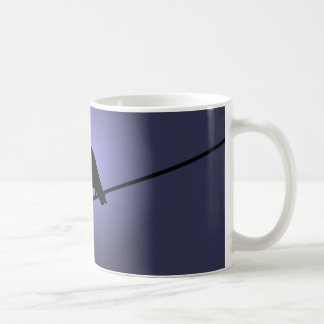 Crow on a Telephone Wire Coffee Mug