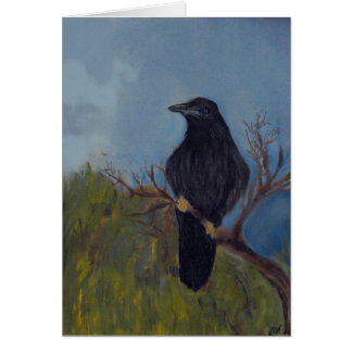Crow on Branch Blank Notecard