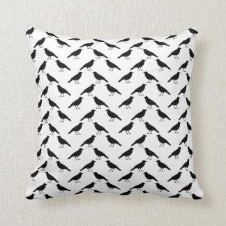 Crow Pattern. Throw Pillow