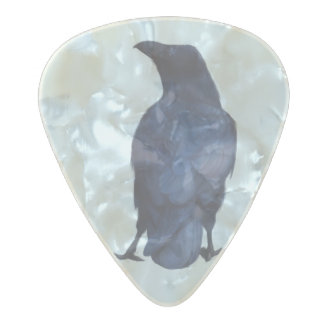 Crow Pearl Celluloid Guitar Pick