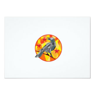 Crow Perch Stars Circle Low Polygon Card