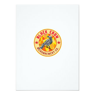 Crow Perched Microbrewery Circle Low Polygon Card