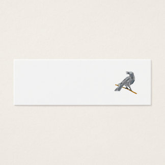 Crow Perching Looking Back Low Polygon Mini Business Card