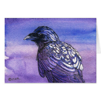 Crow Raven Corvid Original Art Note Card