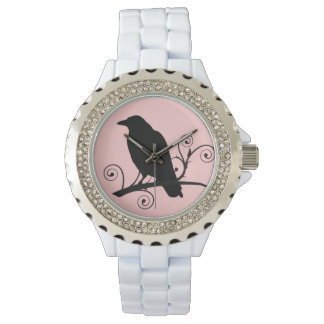"Crow Raven ""Love Crows"" Customizable Watch"