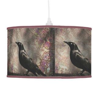 Crow/Raven Photo Pendant Lamp