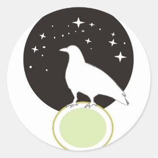 Crow Round Sticker
