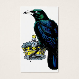 Crow steals the King's crown. Business Card