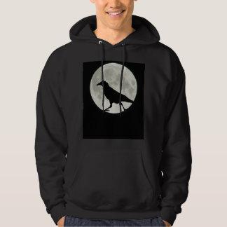 Crow Walks by Moonlight Hoodie