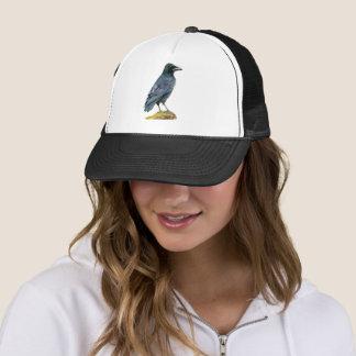 Crow Watercolor Painting Trucker Hat