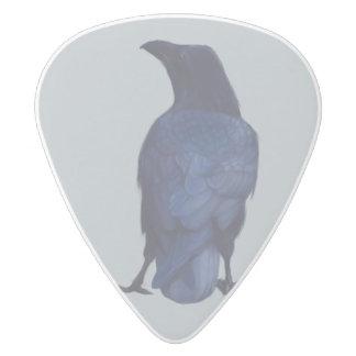 Crow White Delrin Guitar Pick