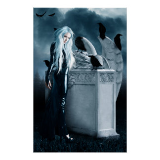 Crow Witch Canvas Print