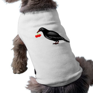Crow With Berries Pet Clothes