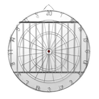 Crowd control fence dartboard