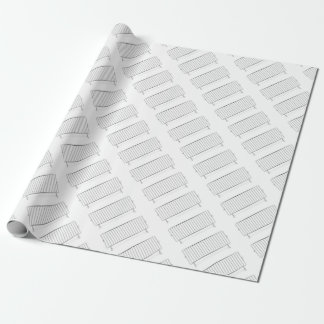 Crowd control fence wrapping paper
