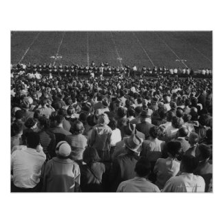 Crowd in stadium poster