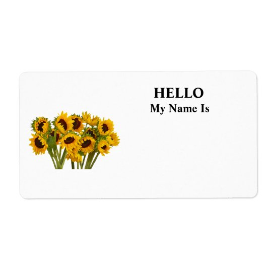 Crowd of Sunflowers Shipping Label
