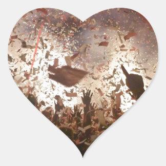 Crowd partying heart sticker