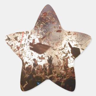 Crowd partying star sticker
