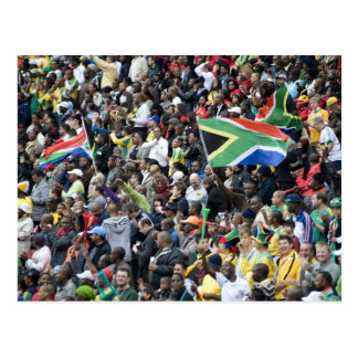 Crowd shot at a soccer game, with South African Postcard