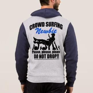 Crowd Surfing Newbie (blk) Hoodie