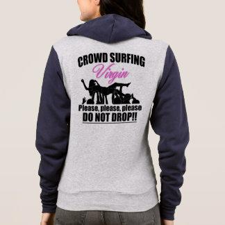 Crowd Surfing Virgin (blk) Hoodie