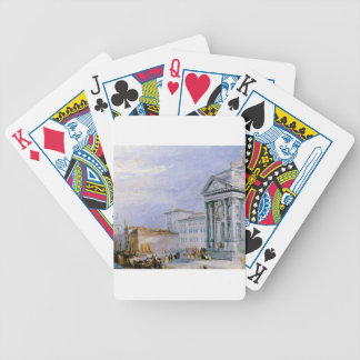 crowded ancient city bicycle playing cards