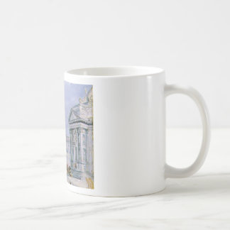 crowded ancient city coffee mug