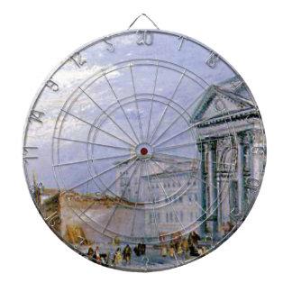 crowded ancient city dartboard