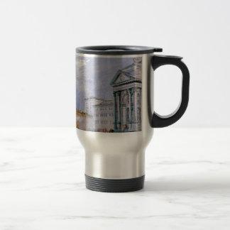 crowded ancient city travel mug