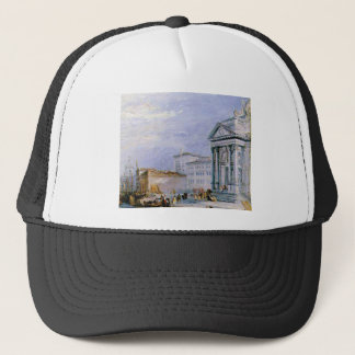 crowded ancient city trucker hat