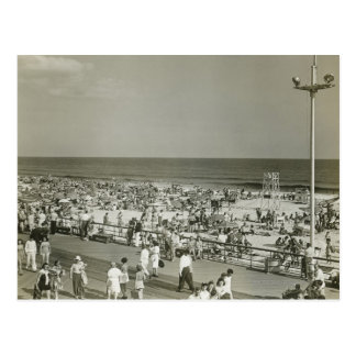 Crowded Beach Postcard