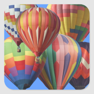 Crowded Cluster of Hot Air Balloons Square Sticker