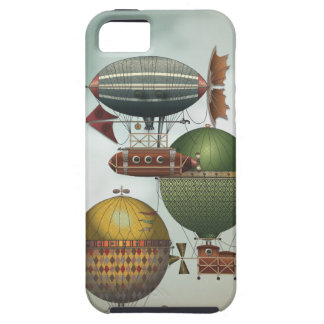 Crowded Skies Vintage Travel Airship Steampunk Art iPhone 5 Covers