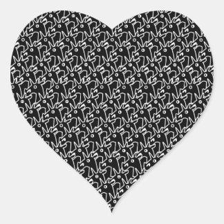 Crowded Unicorns Heart Sticker