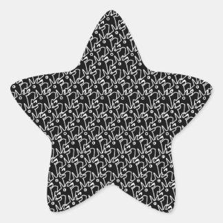 Crowded Unicorns Star Sticker