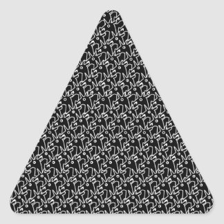 Crowded Unicorns Triangle Sticker