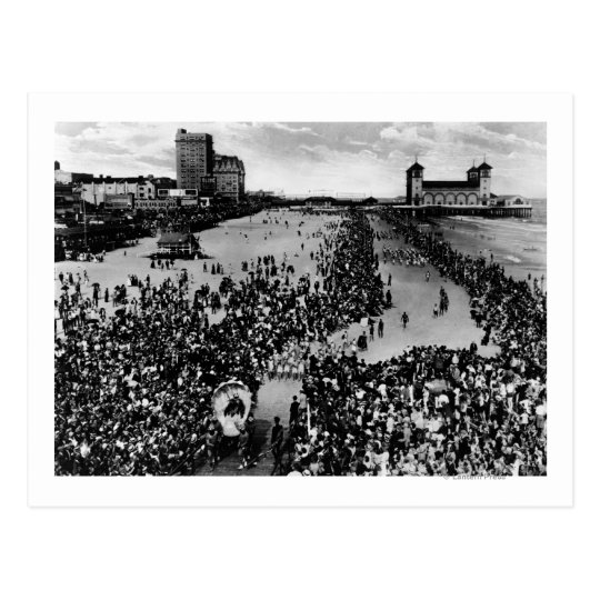 Crowds at Atlantic City, NJ Beauty Pagent Postcard