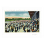 Crowds at Saratoga Race Track & Clubhouse Postcard