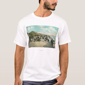 Crowds Gathered in a Line at Tent City T-Shirt