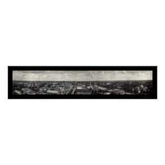Crowley LA Panoramic Photo 1921 Poster