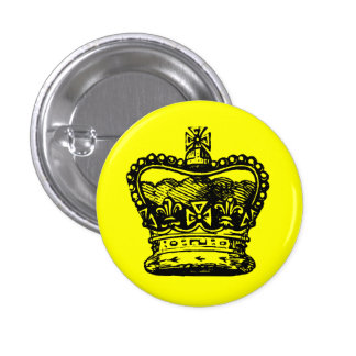 Crown 1 Inch Round Button