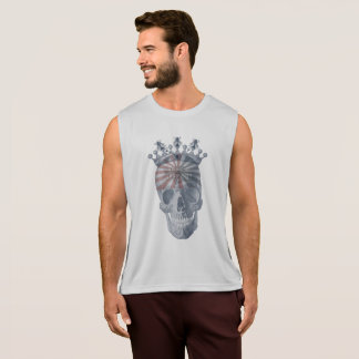 Crown Anchor Bees High Voltage Keep Out Skull Tank Top