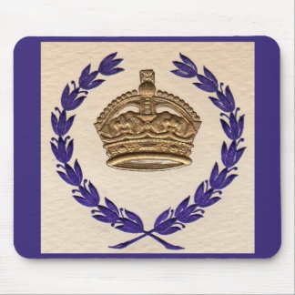 crown and garland mouse pad