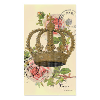 Crown and roses business card template