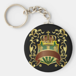 Crown and Shield Keychain