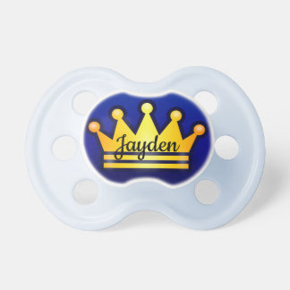 Crown baby pacifier
